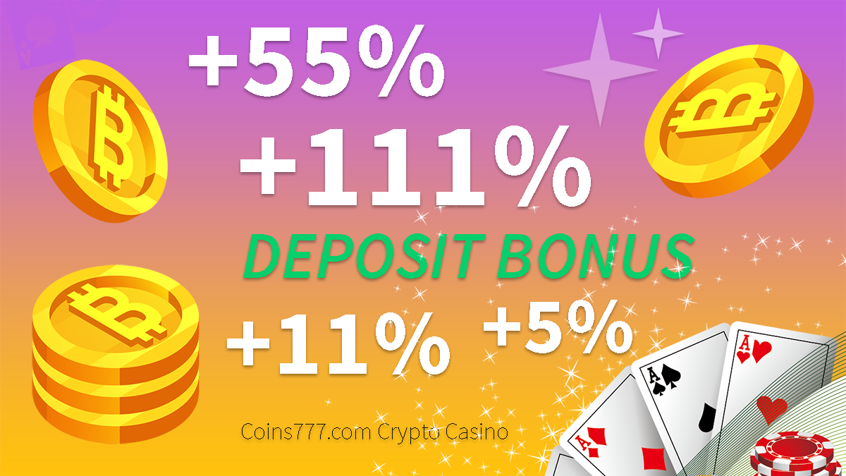 Up to 111% BONUS on deposit