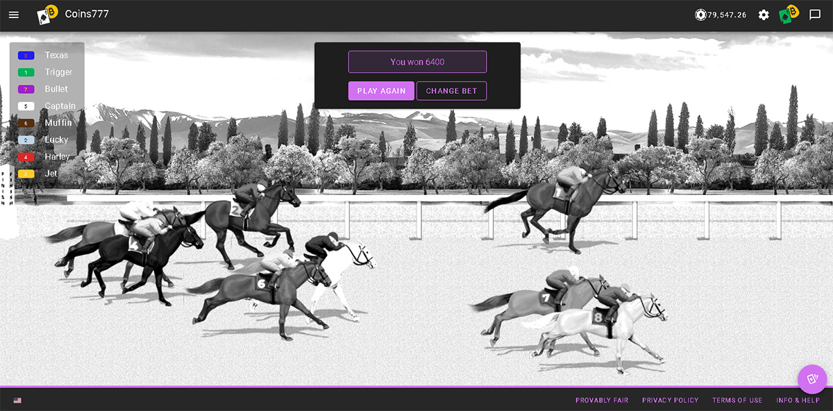 New Crypto Game – Horse Racing